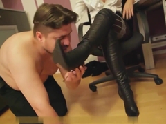Roses spanking and boots trampling