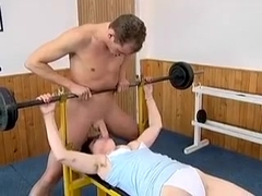 Buxom Brunette Mom Claire Gets Fucked Hard By A Young Stud In The Gym