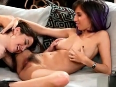 Eva Sedona And April Oneil Lesbian Sex On The Couch