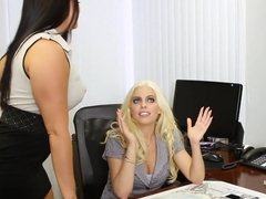 Best pornstars Gabriella Paltrova, Brittany Amber and Mackenzee Pierce in horny threesome, brunette adult clip
