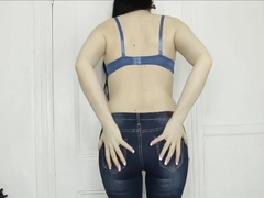 M - Tight Blue Jeans Farts Farting PAWG Magdalena Ass Butt In Your Face POV
