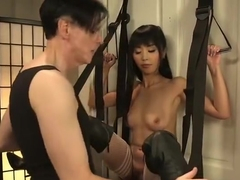 Juicy asian Marica Hase in ultra glam fetish fun