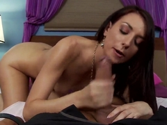 Katie Jordin and Keiran Lee engage in sixty-nine grip