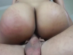 Tattooed brunette with big tits, Mary Jean likes to suck dick before she gets fucked