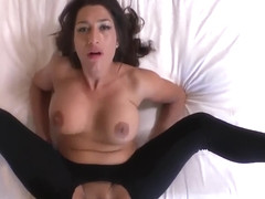MATURE MOM, HOLE IN TIGHTS WITH A KNIFE, JUST FOR A GOOD ANAL FUCK