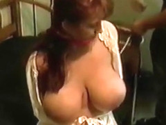 Huge tits housewife tied and fucked by intruder