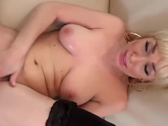 Seductive blonde babe, Lily Labeay likes to have sex with her boss, in his villa