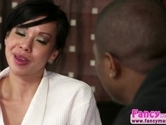 Asian and sexy Kimmy Lee gets fucked by Rob Piper at the nuru spa