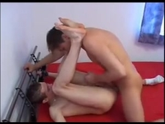 Sexy gay twink gets his butthole drilled with hunk's cock