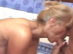 hubby fucks wife, anal, rimming, prostate milking, facial