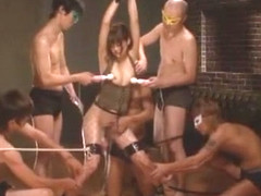 Horny Japanese model Saya Tachibana in Hottest Gangbang, BDSM JAV video