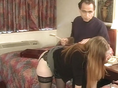 1210854 Julie Simone in nylons spanked by her master 240p