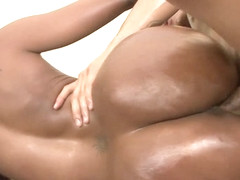 Codi Bryant in Black Pornstar Codi Bryant Oils Up Her Ass And Gets Fucked - LoveEbonyPussy
