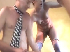 2 Sluts And Three Guys Take It In Every Hole