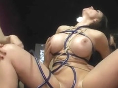 Hot ass long haired slave banged in public