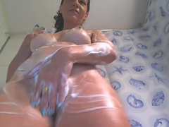 Mature Woman Plays With Herself In Shower