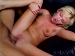 Blonde gets ass fucked before gargling cum - Shock Wave