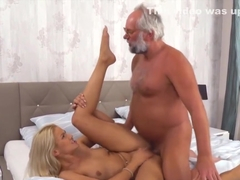 Serbian blonde fingers gramps ass and gets boned
