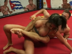 Mixed Wrestling Toyed, Beaten, and Jizzed - Part 1