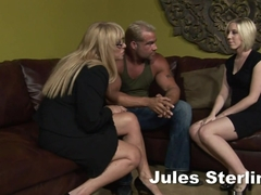 Best pornstars Jules Sterling, Kat Kleevage in Exotic Blowjob, Threesomes sex scene