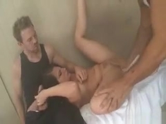 2 Dudes Catch Casey Cumz Squirting In The Sauna
