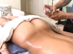 Rachel Starr likes to be drilled hard after massage