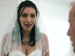 Dirty bride took a bad guys cock for the first time
