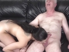 Pixiee Little schoolgirl fucked by Old Nick (MikeOck123) on the sofa