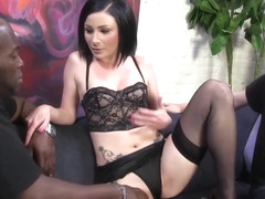 Black guy could not say no to fucking Veruca James, in front of her sissy guy