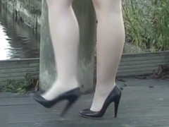 Leggy babe makes your shoe fetish rise high heel juices flow