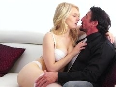 Horny blonde Alli Rae and Marry Lynn gets fucked by a bigcock