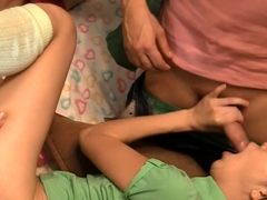Mya Dark & Kathy & Rene & Yiki in group sex video showing true college sex life