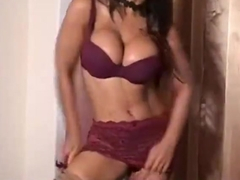 Indian Angela Devi with Big Titties tries on her Smalle