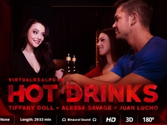 Alessa Savage  Juan Lucho  Tiffany Doll in Hot drinks - VirtualRealPorn