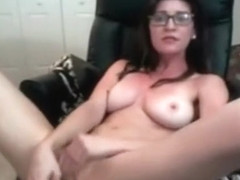 Sexy brunette filmed toying pussy in jacuzzi