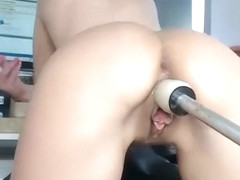 Brunette mia bangg ass toyed before hardcore anal