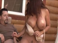 Big breasted angel Goldie Blair sexy tugjob