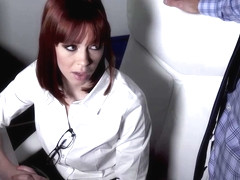 Although she is married, red haired woman, Alexa Nova is getting banged by another man