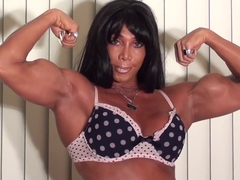 Big Biceps Sexy Flexing with FBB Legend LDR