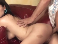 Mature brunette wants to taste the cock's cum