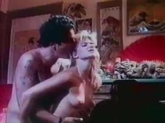 Ginger Lynn Allen, Traci Lords, Tom Byron in vintage porn video