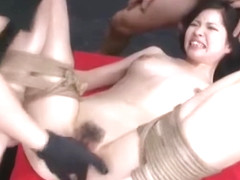 Submissive Asian Beauty Is Hogtied And Ready To Be Used