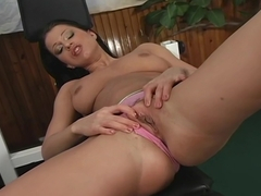 Horny Sexy Brunette Tera Bond Pleases And Fuck Herself.