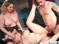 Nadia White Kiki Dare in Hot Club Goers Double Team A Big Dick Stud - NadiaWhite