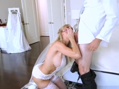 Stepmom fucked hard in her wedding dress