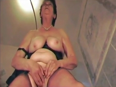 dirty talking dominant old Mommy in FF Nylons