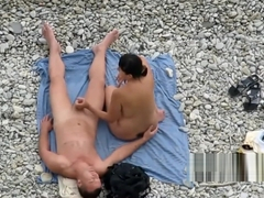 Nudist Norwegian Woman Plays With Her Norsk Man's Cock On The Beach