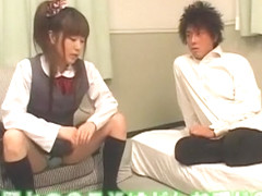 Crazy Japanese whore Rei Mizuna, Mahiro Aine in Hottest Doggy Style, College/Gakuseifuku JAV movie
