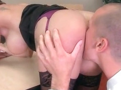 Slut Horny Girl (Peta Jensen) With Big Melon Tits Enjoy Sex In Office video-25