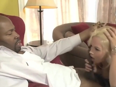 Hot Blonde Likes A Big Black Cock